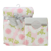 Nurture Garden District Nursery Plush Blanket and Changing Pad Cover Set