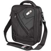 Ful Sidecar Black Vertical Messenger Bag