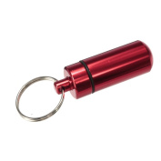 Waterproof Aluminium Alloy Pill Box Keychain