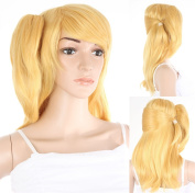 Professional Fancy-Dress Wig Blonde Approximately 50 cm long for Hair Replacement Hair For Hair Loss or After a Chemo Or also for Photo Shoots and HM HMZ 38 _ Z033 +/Einclipbares Extension Piece Included. Shipping from Germany for Salesman Ladies shair ..