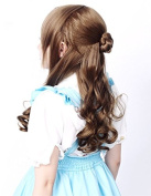 Prettyland C1079 - verflechtes Dutt Hairstyle Long Wavy Lolita long hair wig in brown
