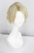 LanTing Norn9 Yuiga Kakeru flaxen short woman Cosplay Party Fashion Anime Wig