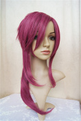 LanTing BRAVE-10 Yuri Kamanosuke Wine Red Long Cosplay Party Fashion Anime Wig hair