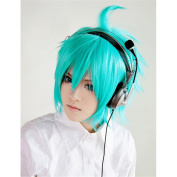 LanTing Yu-Gi-Oh! GX Jesse Anderson green short Cosplay Party Fashion Anime Wig