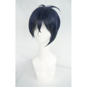 LanTing Touken Ranbu The Sword Dance Mikazuki Munechika dark blue Cosplay Party Fashion Anime Wig hair