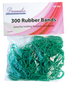 Dream Fix Rubber Band Ponytail Hair Bands Pack of 300 Grün
