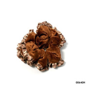Scrunchie Trimmed with Brown
