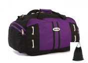 Mens Womens Overnight Weekend Bag Flight Luggage Travel School Sports Holdall with Gym Sack - TB09