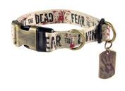 Pets Supply - Dog Collar - The Walking Dead - Fight Dead, Fear Living XL 50cm - 90cm TWD209