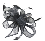 Hawkins Collection Sinamay Loops and Leaves Comb Fascinator