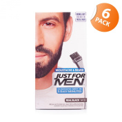 Just For Men Brush-In Facial Hair Colour Real Black 6 Pack