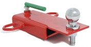 Clamp on 5.1cm Ball Forklift Hitch Receiver Pallet Forks Trailer Towing Adapter