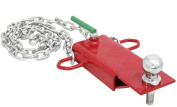 Clamp 5.1cm Ball Chain Forklift Hitch Receiver Pallet Fork Trailer Towing Adapter