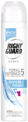 Right Guard Women Total Defence 5 Invisible Anti-Perspirant Aerosol Deodorant 250 ml - Pack of 6