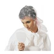 SIBEL Large Medium Density Triangular Tie Hair Setting Net - WHITE 1142823-01