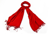 Bewitched Accessories Pashmina Style Scarf In Red by Kuldip