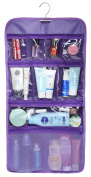 WODISON Transparent Clear Hanging Travel Toiletry Cosmetic Organiser Storage Bag Purple