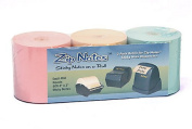 Zip Notes Note Refill Roll, 46m, Tan/Pink/Blue, 3 Pack