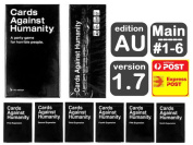 Cards Against Humanity AU V1.7 Full Set + Expansion packs #1 2 3 4 5 6
