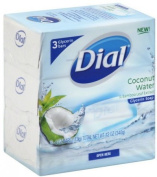 Dial Glycerin Soap Bars Coconut Water & Bamboo Leaf Extract, 120ml bars, 3 ea
