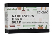 Apicare Gardener's Hand Soap Bar Cleans Dirty Hands, Knees and Feet Naturally