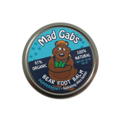 BEAR FOOT PEPPERMINT BALM 97% organic 100% natural Mad Gab's 45ml SHEA BUTTER