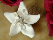 Starfish Themed Orchid Style Bridal Comb with Crystals by Elegance by Carbonneau