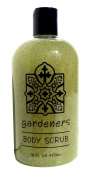 Greenwich Bay Body Scrub Gardeners, Enriched with Shea Butter and Cocoa Butter, Blended with Exfoliating Loofah and Apricot Seed 470ml