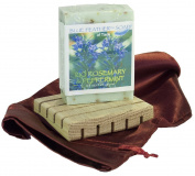 Rio Rosemary and Peppermint Handcrafted Soap with Premium White Oak Soap Deck, Bundle of 2 Items.