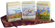 Laughing in Flowers Collection Handcrafted Soap, Bundle of 3 Bars