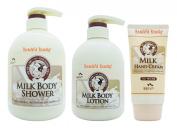 Somang Flor De Man Milk Body Shower 750ml + Body Lotion 500ml + Hand Cream 80ml Set