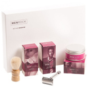 Men Rock Double Edged Razor Starter Kit Gift Set