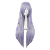 Andao Cosplay Wigs Long Purple Wig Long Straight Hairpieces Be3014