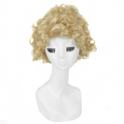 Andao Blonde Short Wig Short Curly Wigs Short Curly Hairpiece Be3084