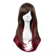 Andao Girls Cosplay Wig Quality Synthetic Wigs Women Beauty Party Decoration Be3322