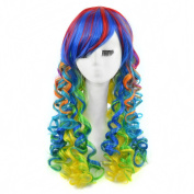 Andao Curly Synthetic Wigs Colourful Wigs Cosplay Hairpieces for Sale Be3030