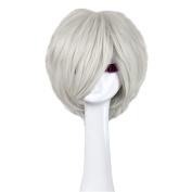Andao Bob Style Wigs Best Short Wigs White Hairpieces Be3060