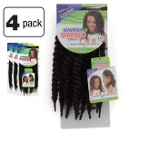Janet Collection Havana Medium MAMBO TWIST Braid 30cm (4 - MED BROWN) 4 Packs Deal