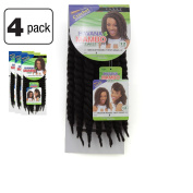 Janet Collection Havana Medium MAMBO TWIST Braid 30cm (2 - DARK BROWN) 4 Packs Deal