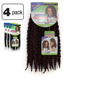 4 Packs of Janet Collection Havana Medium Mambo Twist Braid 30cm