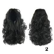 DENIYA Mid-length Curly Clip in Hair Extension Ponytail