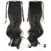 DENIYA Long Curly Wrap Ponytail Clip in Hair Extensions