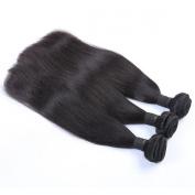 Mxangel Unprocessed Natural Colour Straight Virgin Brazilian Human Hair Weave Extensions 3pcs 36cm Bundles Hair