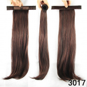 DENIYA Long Straight Wrap around Ponytail Wig Hair Piece Extensions 50cm