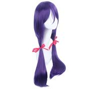 Love Live! Nozomi Tojo Straight Synthetic Hair Purple Cosplay Wigs
