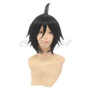 COSPLAZA Anime Cosplay Wigs Haikyuu!! Tadashi Yamaguchi Short Black Hair