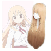 COSPLAZA Himouto! Umaru-chan Doma Umaru Long Peach Fashion Girl's Anime Cosplay Wigs