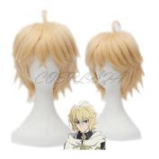 COSPLAZA Anime Cosplay Wigs Mikaela Hyakuya Seraph of the End Short Blonde Hair