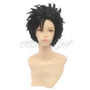 COSPLAZA Anime Cosplay Wigs Haikyuu!! Kuroo Tetsurou Short Black Hair