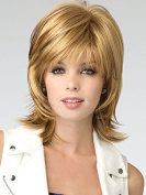 Hmy Beautiful Wavy Bouncy Medium Length Hairstyle Blonde Colour Capless Synthetic Hair Wigs